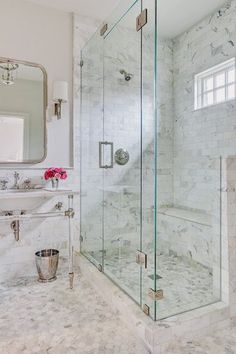 Get the Look: 35 Beautiful Bathrooms with Frameless Glass | A House Full of Sunshine