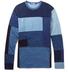 Junya WatanabePatchwork Cotton-Jersey T-Shirt