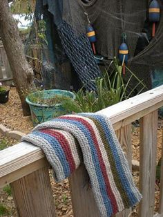 Ravelry: Noah's Colorful Striped Scarf, free pattern by Sara Tusek