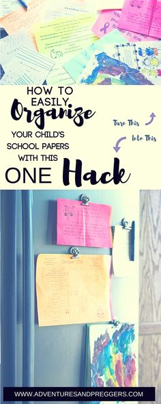 How to easily organize your kids school papers.  Click to find out how!