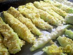Dovlecei crocanti Asparagus, Zucchini, Vegetables, Ethnic Recipes, Food, Party, Studs, Essen, Vegetable Recipes