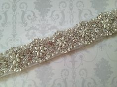 Crystal Bridal Sash-Rhinestone Wedding Belt-Bridal Sash-Wedding Dress Belt on Etsy, $136.07