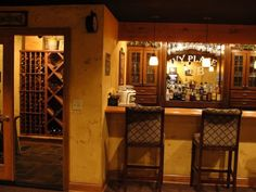 I think I'd add a door between the back of the bar and the wine closet.  Then it would be perfect!