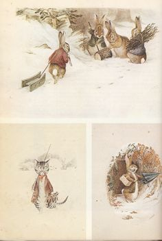 Beatrix Potter - Watercolors dating from about 1894 for a calendar Hildesheimer & Faulkner.