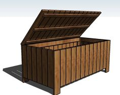outdoor storage bench from fence scraps