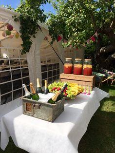 Cute drink station - velkomstdrink til vores havefest