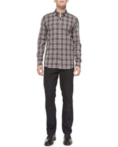 Cotton/Cashmere Denim Jeans, Navy