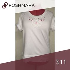 Cut Out Converse blouse Heavy t shirt like blouse. Not too heavy though, because of the cute cut outs on the neckline and chest  worn once Converse Tops Blouses