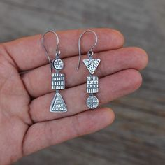 The life so short, the craft so long to learn. . – Hippocrates . Combine Earrings 6. Handmade with recycled sterling silver. Soon in my online shop. #SilverJewelry