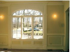 dining room window molding idea