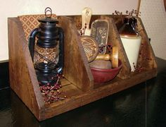 Primitive Crafts with Old Stuff | This newly made nesting box was made to look old. I use this aging ...