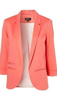 Slim Fit, no findings, coral women's blazer.  In my wishlist.  Rare color.