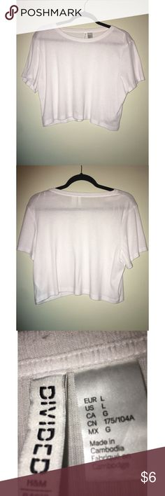 Forever 21 cropped shirt White ribbed crop top from Forever 21 in size large! Only worn a few times. In great condition!  Offers welcomed 💕✨ Forever 21 Tops Crop Tops
