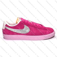 pink nike blazers with diamante tick bites