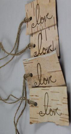 Birch bark Gift Tags
