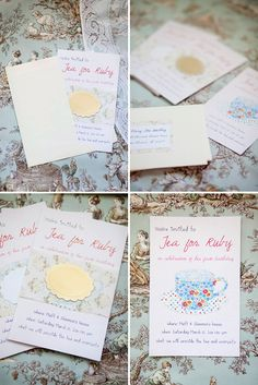 Tea Pary Invitations- so unique and creative.