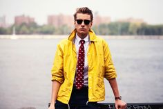 man in the yellow jacket