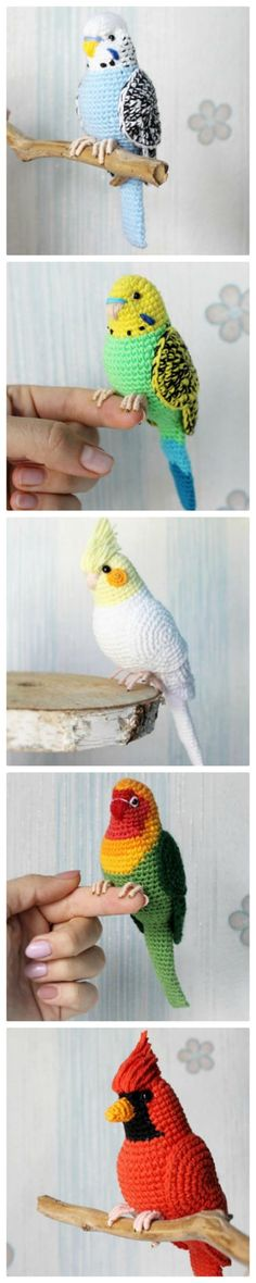 Crochet Bird Patterns Easy DIY Video What better time to start makin. Crochet Bird Patterns Easy DIY Video What better time to start making some springtime Crochet Bird Patte Baby Knitting Patterns, Crochet Bird Patterns, Crochet Birds, Amigurumi Patterns, Crochet Animals, Crochet Crafts, Crochet Dolls, Yarn Crafts, Crochet Flowers