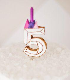 DIY Cake Topper | DIY Faceted Birthday Cake Topper | Confetti Pop
