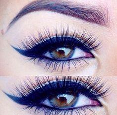 Eye make up. Pretty Makeup, Love Makeup, Makeup Inspo, Makeup Inspiration, Awesome Makeup, Awesome Hair, Simple Makeup, Makeup Black, Dark Eye Makeup