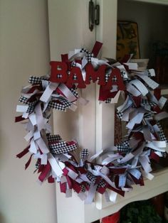 1000 Images About Alabama Football Wreaths On Pinterest