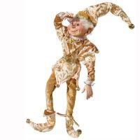 Charles le lutin glamour, visage en céramique 16''