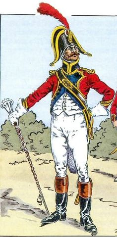 French; 30th Line Infantry, Drum Major 1810 by H.Bosselier for Bucquoy
