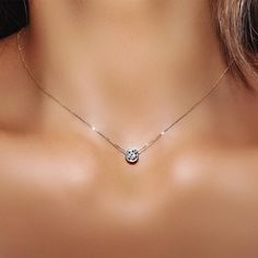 AMDXD Jewelry Multilayer Necklaces for Women Silver Hollow Circle Metal Rod Chain Necklaces Punk Chain Necklace