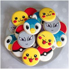 I create custom cookies for any. Cookies For Kids, Fancy Cookies, Iced Cookies, Cute Cookies, Royal Icing Cookies, Cupcake Cookies, Sugar Cookies, Pokemon Birthday, Pokemon Party