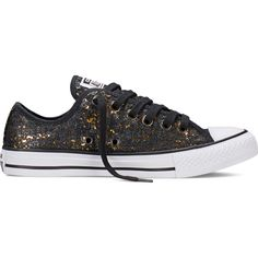 Converse Chuck Taylor All Star Distressed Sequins – black Sneakers ( 65) ❤  liked on 51b0ee241