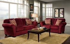 how to decorate with a red couch - Google Search | new house ...
