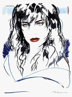 We have this in our home - it is quite beautiful - we have three prints by Mukai    Dennis Mukai Illustration: Blue Eyes
