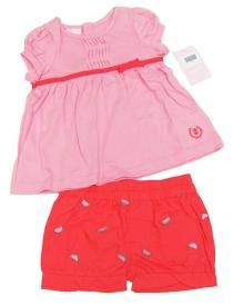 Izod Baby Girls Pink Shirt and Watermelon Shorts 2-Piece Set  $12.00