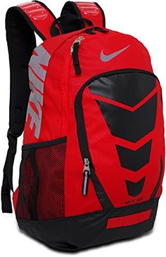 6f345c803b Amazon.com  Nike Vapor BP Large Backpack Daring Red Black Metallic Silver   Sports   Outdoors