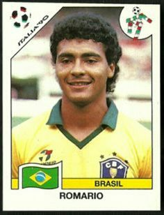 Romario of Brazil. 1990 World Cup Finals card. Uefa Football, Brazil Football Team, Football Icon, Best Football Players, Good Soccer Players, Football Uniforms, National Football Teams, World Football, Soccer Fans