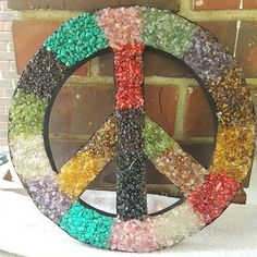 Gorgeous 12 healing stones peace sign