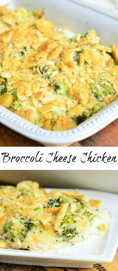 Broccoli Cheese Chicken | from willcookforsmiles.com #dinner #chicken