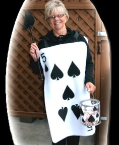 Felt Halloween Playing Card Costume (FREE pattern)