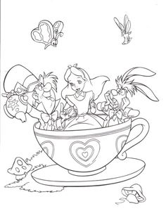 Here are the Awesome Alice In Wonderland Color Pages Colouring Pages. This post about Awesome Alice In Wonderland Color Pages Colouring Pages . Disney Coloring Pages, Coloring Book Pages, Printable Coloring Pages, Coloring Pages For Kids, Coloring Sheets, Alice In Wonderland Tea Party, Alice In Wonderland Printables, Alice In Wonderland Drawings, Art Tutorials