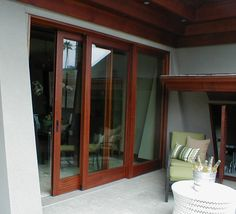 Lift and Slide patio doors let in an abundance of natural light and give you a resort style vibe! Sliding Patio Doors, Entry Doors, Indoor Outdoor Living, Outdoor Spaces, Aluminium Windows, Swinging Doors, Resort Style, Open Up, Luxury Homes