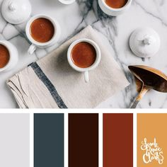 Color of coffee // Winter Color Schemes // Click for more winter color combinations, mood boards and seasonal color palettes at http://sarahrenaeclark.com #color #colorscheme #colorinspiration