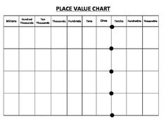 Printable Place Value Chart To The Billions  Th Grade Math