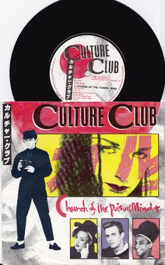 """CULTURE CLUB Church Of The Poison Mind 1983 UK 7"""" 45 rpm Vinyl Single Record pop synth electro 80s new wave Boy George Vs571 *Sale 45s*"""