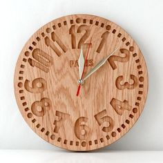 Clock made with CNC router. Router Projects, Wood Projects, Woodworking Projects, Diy Clock, Clock Decor, Wooden Clock, Wooden Walls, Wood Animals, Bois Diy