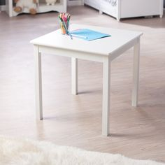 Have to have it. Lipper Childrens Hugs and Kisses Table-White - $61.34 @hayneedle