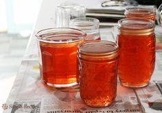 Beautiful rose colored quince jelly recipe with step-by-step instructions and photographs. Quince Fruit, Quince Jelly, Jelly Recipes, Fruit Recipes, Summer Recipes, Quince Recipes, Sauces, Apple Jelly, Canning Recipes