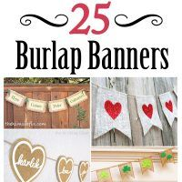 25 Burlap Banners.. for all types of holidays and occasions