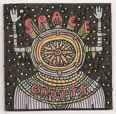 space cadets sticker design by Thought Cloud Museum : Theo Ellsworth, via Flickr