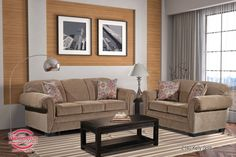 Kelly Gold Sofa and Love Seat Set 2140-120, $999.00 Gold Sofa, Brown Decor, Buy Furniture Online, Sofas, Love Seat, Upholstery, Living Room, Chair, Couches