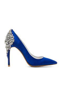 Jeffrey Campbell x REVOLVE Dulce Embellished Heel in Blue Satin | REVOLVE